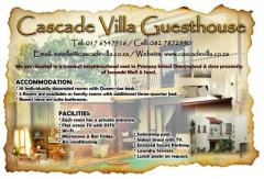 Cascade Villa Guesthouse & Self-Catering