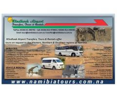 Windhoek Airport Transfers, Tours & Rentals