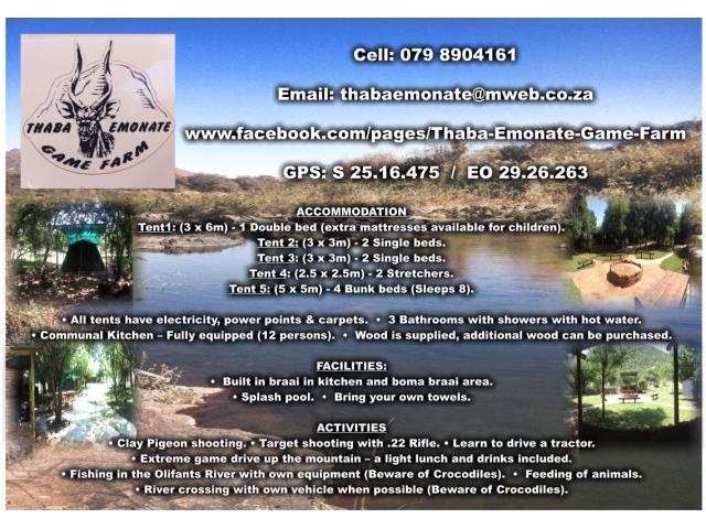 Thaba Emonate Game Farm Groblersdal Accommodation Tourism