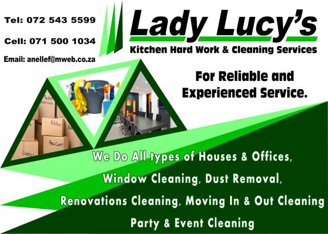 Lucy Cleaning Service : Lady lucy s kitchen hard work cleaning services allendea