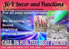 J & V Decor and Functions