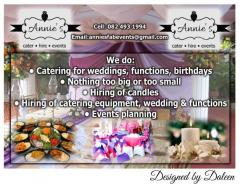 Annie's Cater • Hire • Events