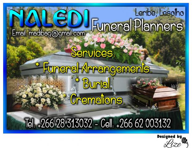 naledi funeral planners leribe business directory