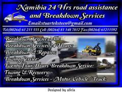 Namibia 24 Hrs road assistance  and Breakdown Services
