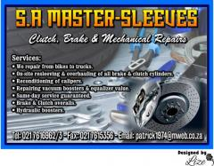 S.A Master-Sleeves - Clutch, Brake & Mechanical Repairs