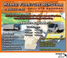 Mzansi Furniture Removals & Bakkie Hire