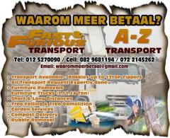 Rubble Removal / A-Z Transport / Bokmakierie Service Centre