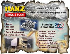 Hanz Truck & Plant Mechanical Repairs