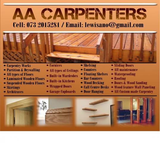 Aa Carpenters Johannesburg Business Directory