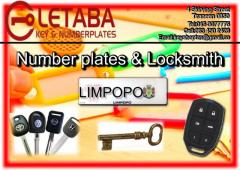 Letaba Key and Number Plates