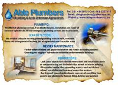 Able Plumbers