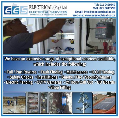 Ees electrical pty ltd randburg business directory for Kitchen fitters randburg