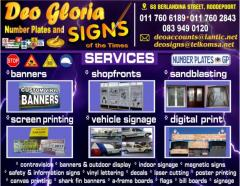 Deo Gloria number plates & Signs
