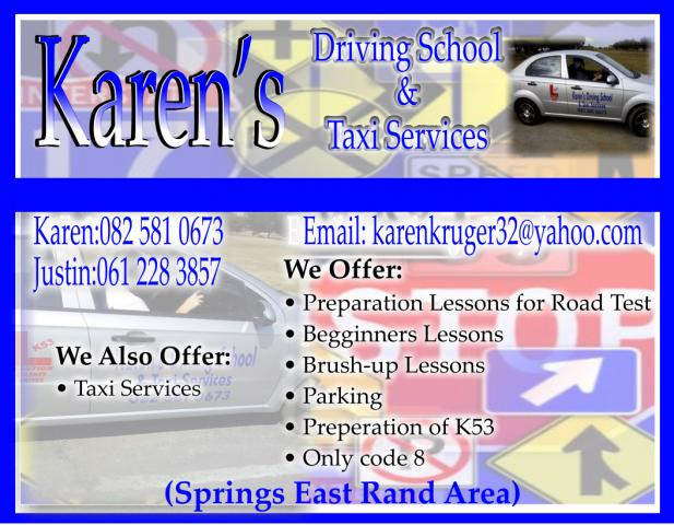 Karens Driving School & Taxi Services