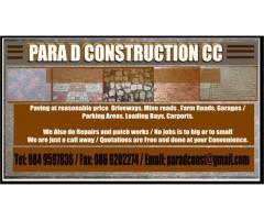 Para D Construction cc.