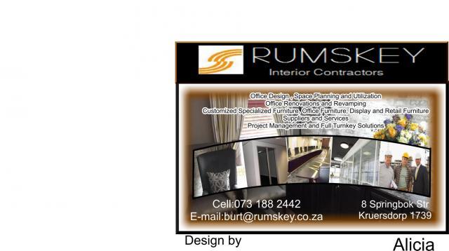 Rumskey Interior Constractors PTY LTD Krugersdorp