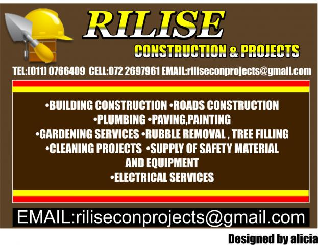 RILISE CONSTRUCTION & PROJECTS Fourways - Contractors Directory