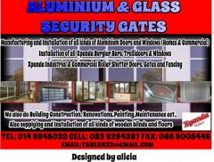 ALUMINIUM & GLASS  -XPANDA SECURITY GATES