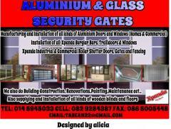 ALUMINIUM & GLASS  -XPANDA SECURITY GATES