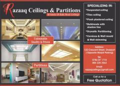 Razzaq Ceilings ,Partitions & Moulding
