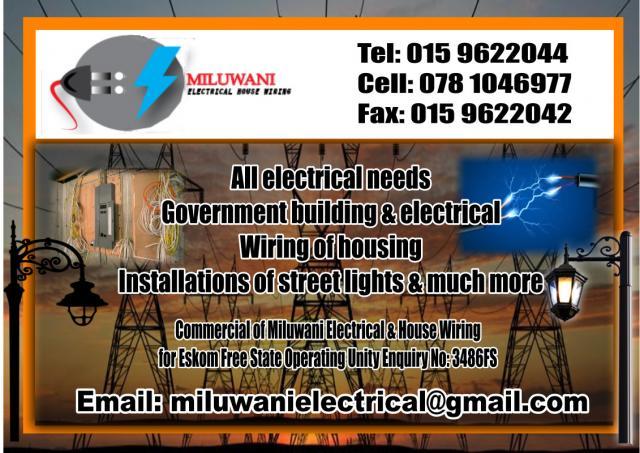 Miluwani Electrical u0026 House Wiring : house wiring contractors - yogabreezes.com