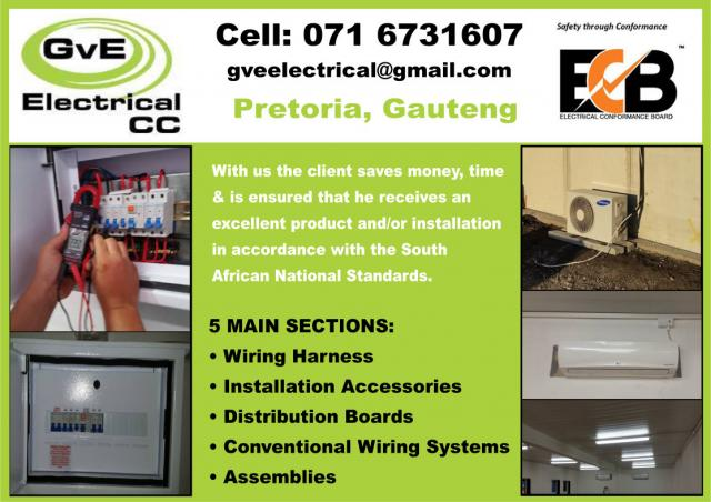 GvE Electrical Pretoria Contractors Directory