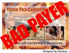 Yestin Pick Carpentry (Pty) Ltd