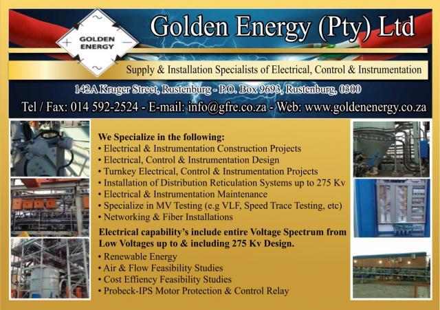 Contact Us Petroleum Coke Company Pty Ltd Mail: Golden Energy (PTY) LTD Rustenburg