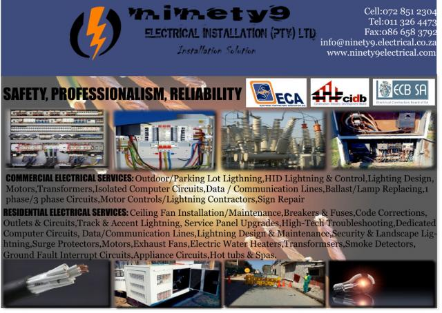 Ninety 9 Electrical Installation Pty Ltd Contractors