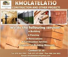 Molelatelatso Construction and other Projects