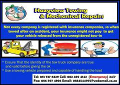 Hazyview towing & Mechanical Repairs
