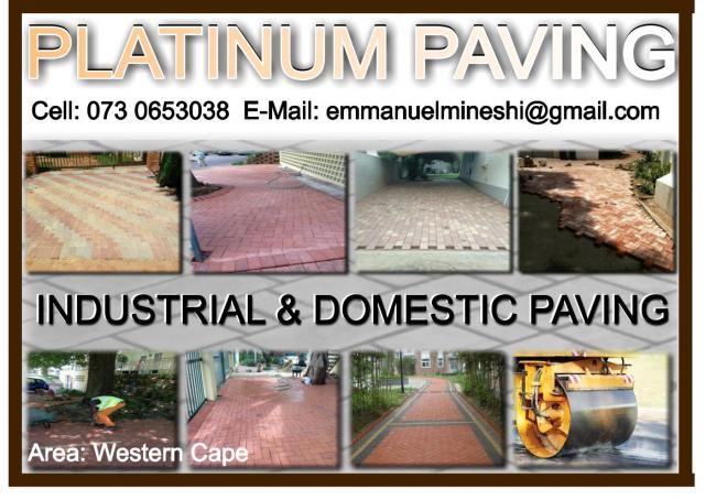 Platinum Paving Cape Town Contractors Directory