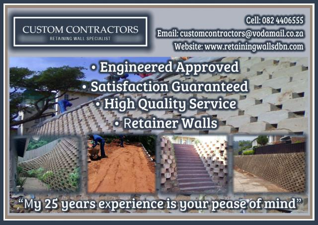 Custom Contractors Retaining Wall Specialist