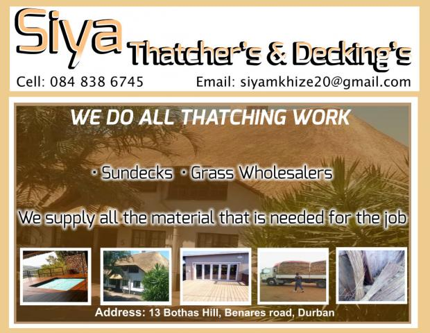 Siya Thatchers Amp Deckings Durban Contractors Directory