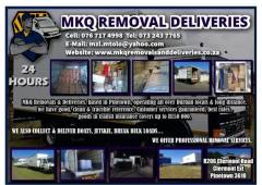 MKQ REMOVAL DELIVERIES
