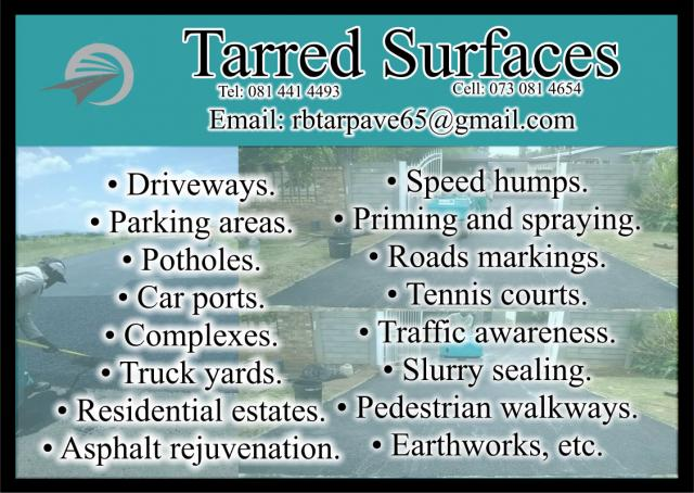 Tarred Surfaces