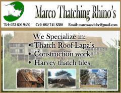 Marco Thatching Rhino's