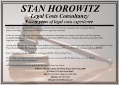 STAN HOROWITZ Legal Costs Consultancy