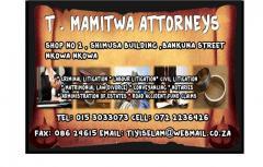 T . Mamitwa Attorney's