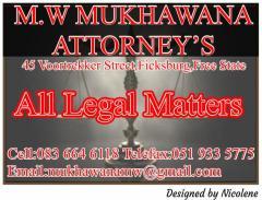 M.W Mukhawana Attorney's