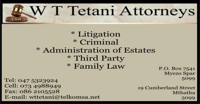 W T Tetani Attorneys
