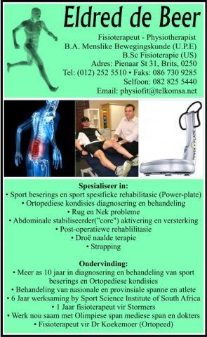 Eldred De Beer Fisioterapeut Brits Medical Directory