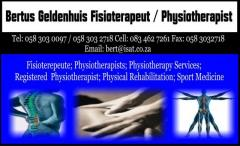 Bertus Geldenhuis Fisioterapeut / Physiotherapist