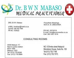 Dr BWN Mabaso