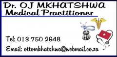 Dr. O.J Mkhatshwa Medical Practitioner