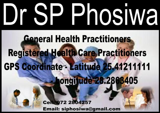 Dr SP Phosiwa