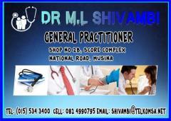 Dr M.L Shivambi
