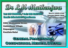 Dr LM Mathenjwa