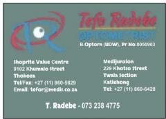 Tefo Radebe Optometrists