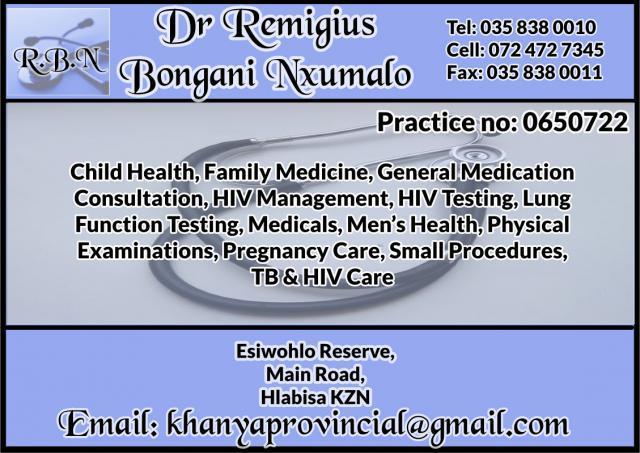 Dr Remigius Bongani Nxumalo
